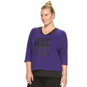 Plus Size Gaiam Reveal Yoga Crop Top NWT